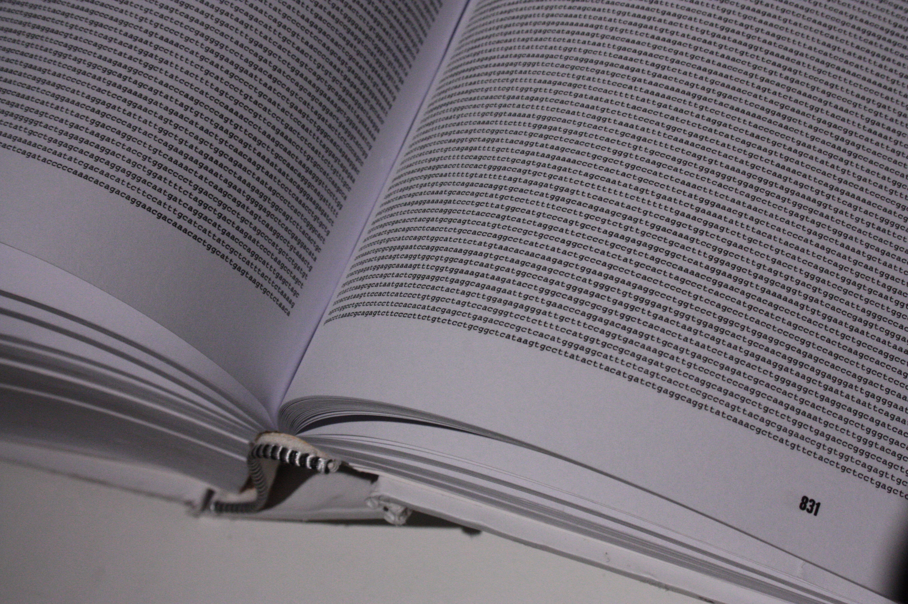file the genome sequence when printed fills a huge book of close