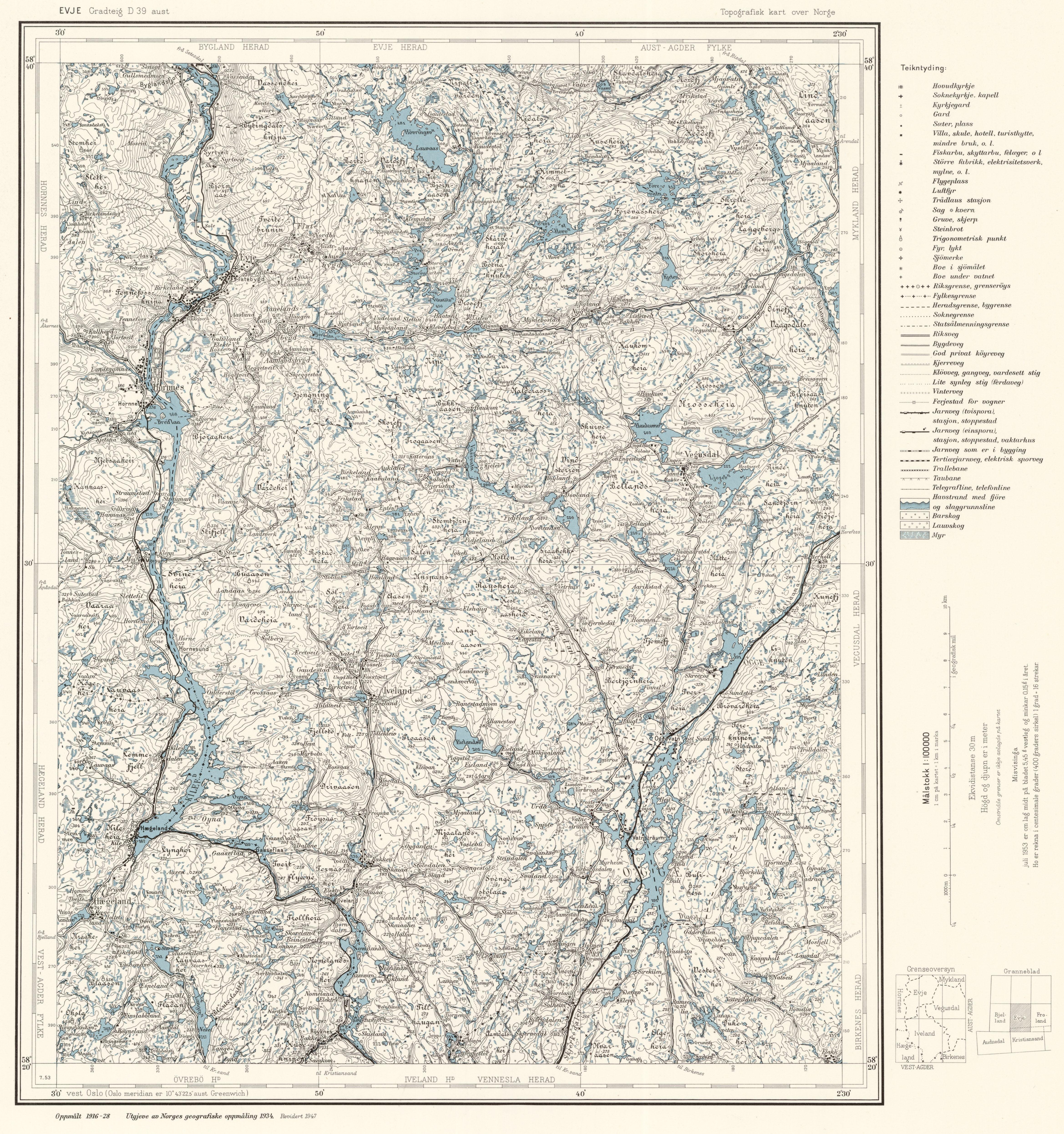 FileTopographic Map Of Norway D Aust Evje Jpg - Norway map jpg