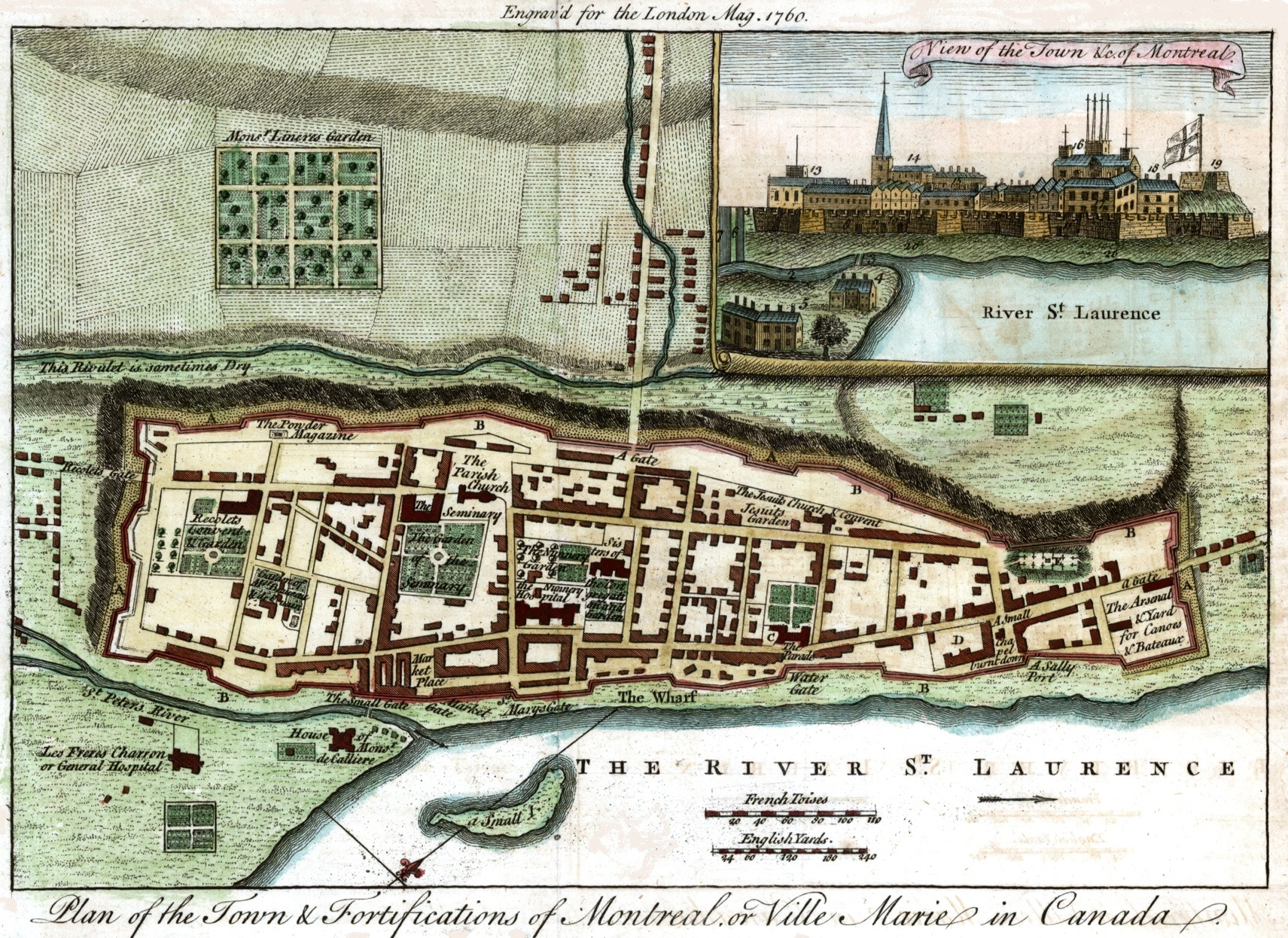 File:Town and Fortification of Montreal, London Mag.,1760.jpg