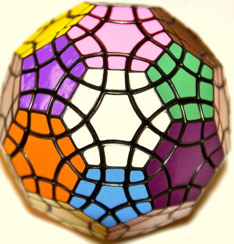 """Photo of a Tuttminx: an [n=3] """"buckyball"""""""