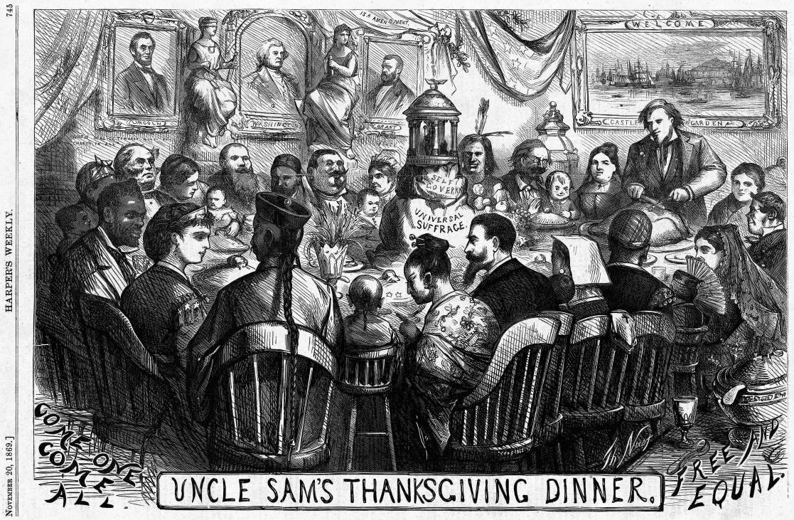 File:Uncle Sam's Thanksgiving Dinner (November 1869), by ...