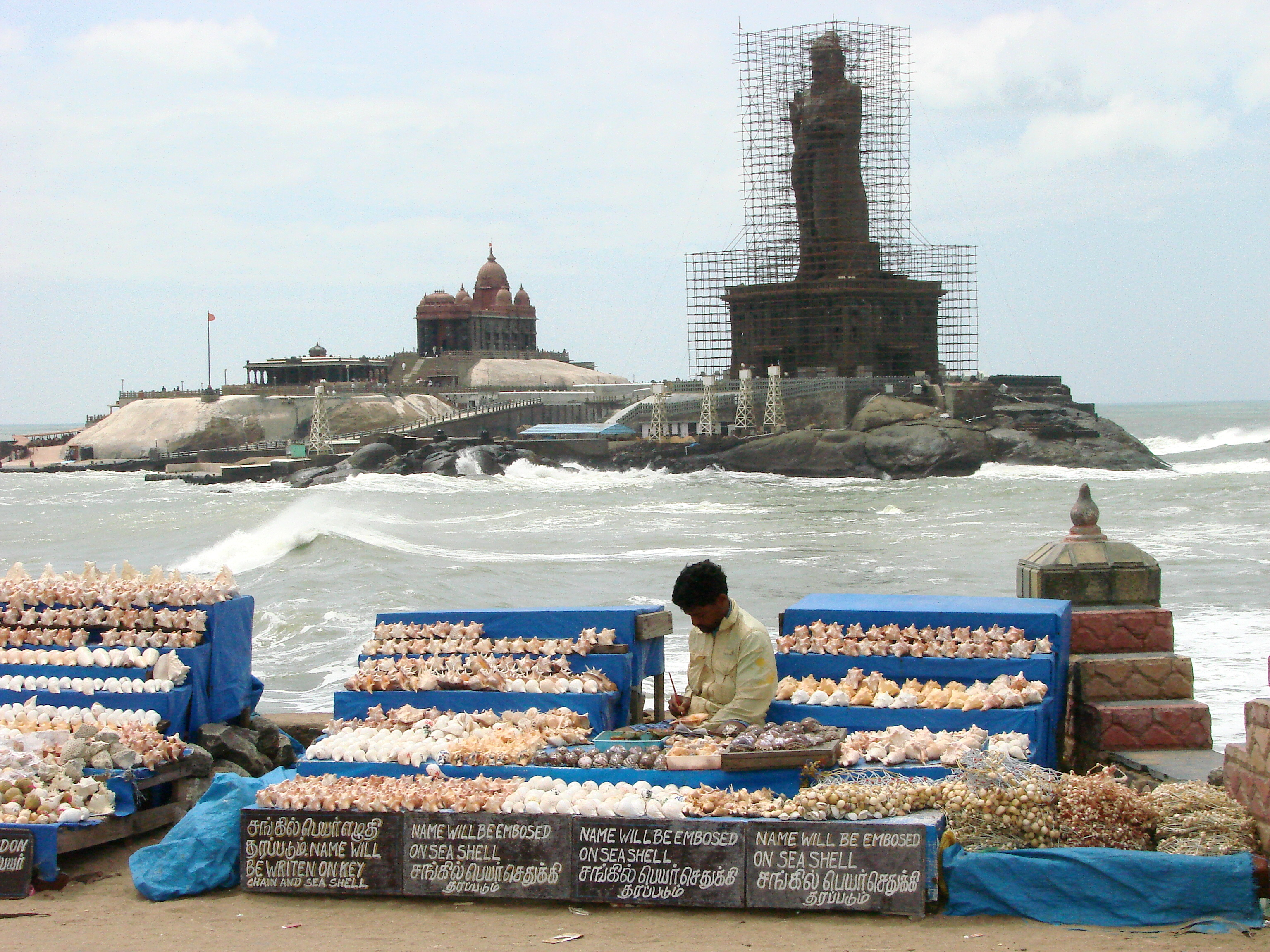 Kanyakumari India  City pictures : Description Vendor at Seafront Kanyakumari India
