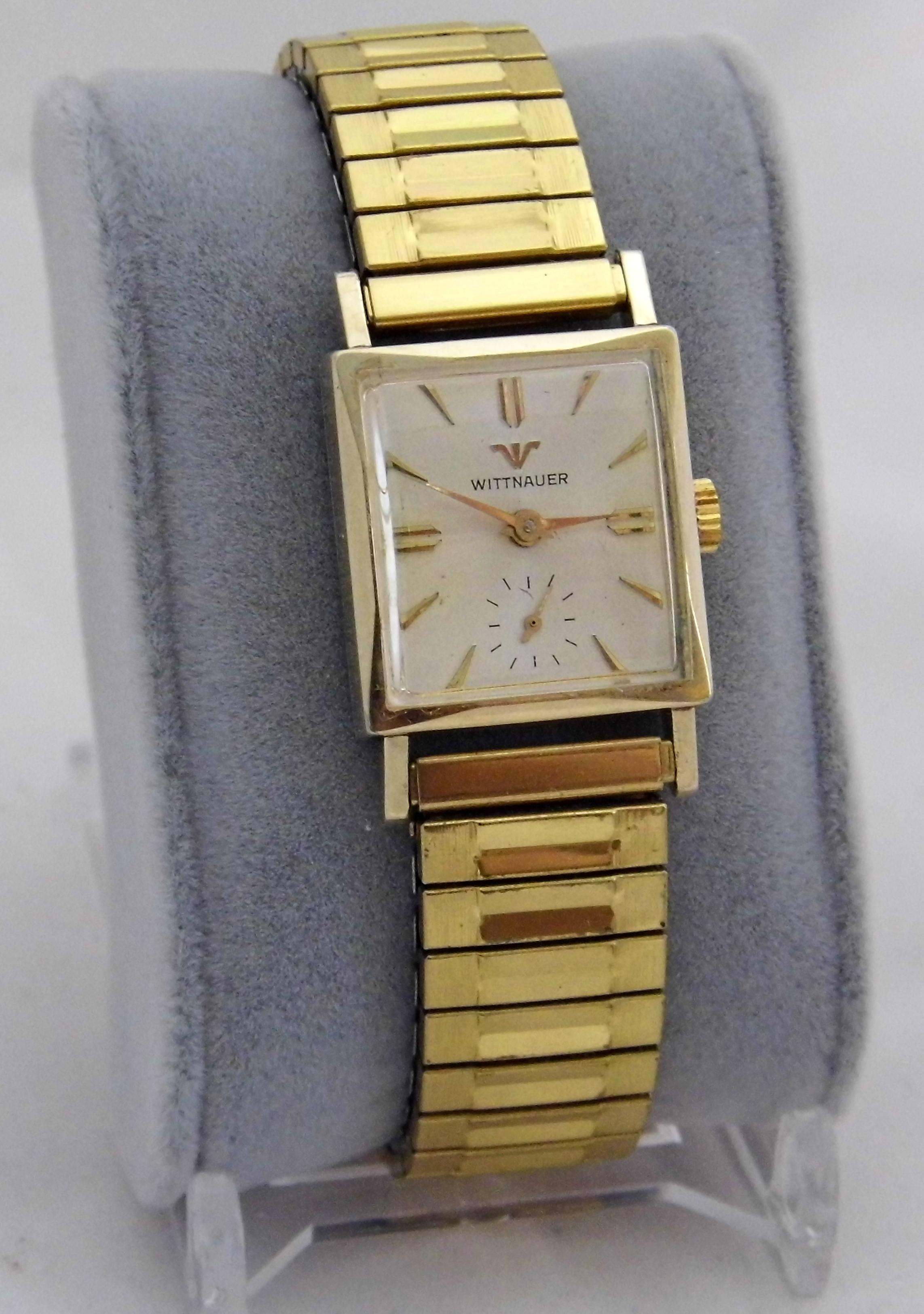 File:Vintage Wittnauer Men's Wrist Watch, Manual Wind, 17 ...