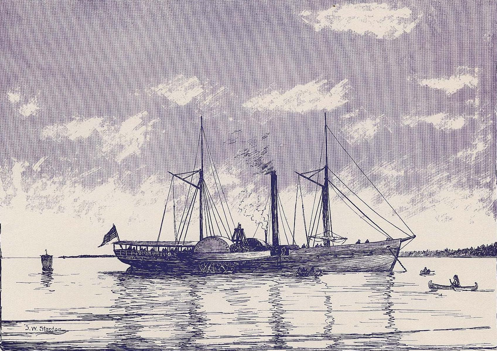 Walk-in-the-Water, the first steamboat on the Great Lakes