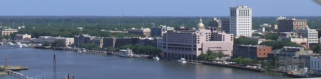Downtown Savannah skyline from the Savannah River