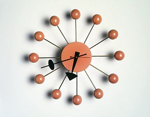 "George Nelson (designer) - ""Ball"" Wall Clock, 1948-1969 Brooklyn Museum"