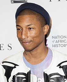 Pharrell Williams - the cool, hot,  musician  with Afro-American roots in 2020