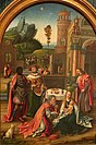 'Adoration of the Magi', Flemish school oil on wood painting, Antwerp, early 16th century.JPG