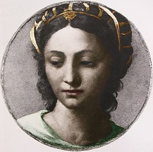 'Head of a Woman', oil on panel painting by Sebastiano del Piombo (Sebastiano Luciani)2.jpg