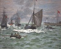 'The Entrance to the Port of Le Havre' by Monet, Norton Simon Museum.JPG