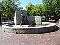 'The Worker' monument; west side; Lowell, MA; 2012-05-19.JPG