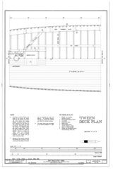 'Tween Deck Plan, Section 2 of 5 - Ship BALCLUTHA, 2905 Hyde Street Pier, San Francisco, San Francisco County, CA HAER CAL,38-SANFRA,200- (sheet 24 of 69).png