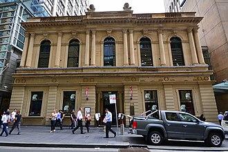 Sydney School of Arts building - The façade of the former School of Arts building, pictured in 2014