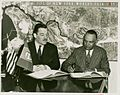 (1939) New York World's Fair, 5 - liberian delegation chief underlining documents.jpg