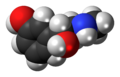 (R)-Phenylephrine molecule spacefill.png