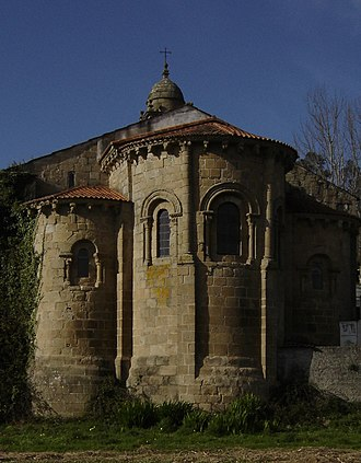 Pedro Fróilaz de Traba - Apse of the monastery of Jubia, a major beneficiary of Pedro's religious patronage and which he eventually gave to Cluny.