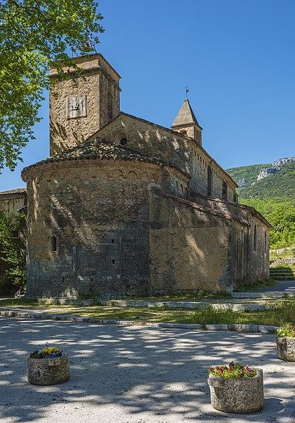 Église de la Nativité-de-Saint-Jean-Baptiste de Saint-Jean-de-Buèges. Saint-Jean-de-Buèges, Hérault, Occitanie, France