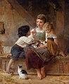 Émile Munier, 1879 - A happy family.jpg
