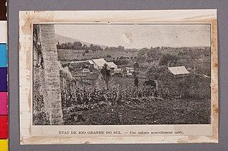 État de Rio Grande do Sul - Une Colonie Nouvellement Créée