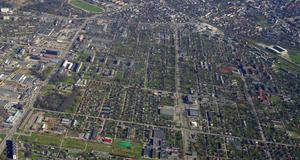 Kristiine - Aerial view of northern part of Kristiine, mostly Lilleküla.