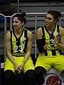 Özge Yavaş 23 & Ayşe Cora 3 Fenerbahçe women's basketball TWBL 20181216.jpg