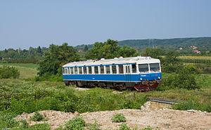 Y1 (railcar) - Former Swedish Y1 railcar, now Železnice Srbije class 710, on its way to Niš near Matejevac.
