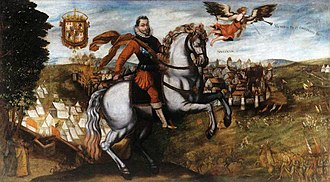 Polish–Muscovite War (1605–1618) - Victorious Sigismund III of Poland at Smolensk, by Italian-born artist Tommaso Dolabella