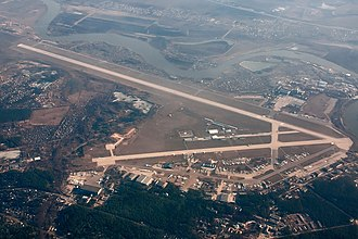 Zhukovsky International Airport - Airfield Gromov Flight Research Institute before the construction of the airport begins (photo in 2011)
