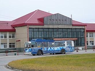 Berezniki - BTZ trolleybus and railway station in Berezniki