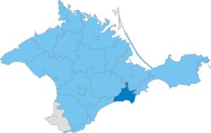 Sudak Municipality - Image: Карта схема Крыма Судакский горсовет