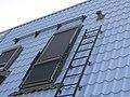 Кровельная лестница на крыше дома.JPG