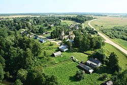 Aerial view of Lyubavichi