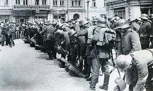 Operation Faustschlag - German troops in Kiev, March 1918.