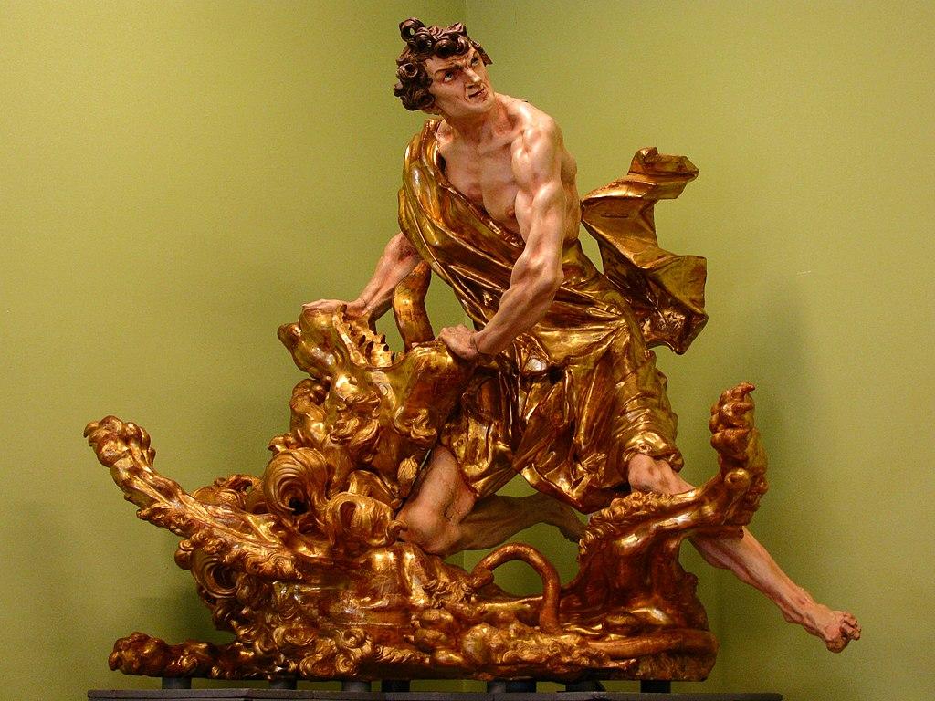 Іоан Георгій Пінзель – Самсон, що розриває пащу лева, кін. 1750-х рр..