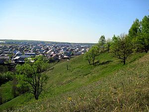 Bavly - View of Bavly from a hill