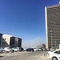 ההשקפה מהחנייה מגדל אשכול, אוניברסיטת חיפה - העשן מהשריפה בחיפה.jpg