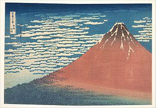 <i>Fine Wind, Clear Morning</i> Woodblock print by Hokusai