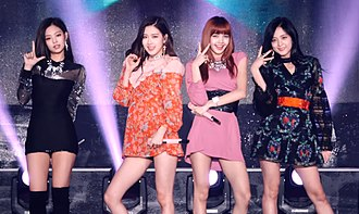 """Blackpink - Blackpink performing """"As If It's Your Last"""" at the Korea Music Festival on October 1, 2017."""