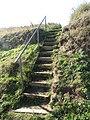 -2018-10-10 Steps on to Cardiac Hill beach footpath, Mundesley Beach.JPG