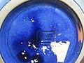 -2019-09-19 A back stamp on a blue Denby pottery water jug, Cromer.JPG