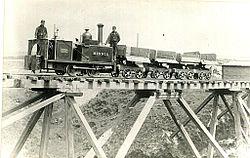 0-4-0 T steam locomotive 'Minnie' of W. Bagnall at Cloughbottom Reservoir.jpg