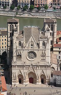 Roman Catholic cathedral in Lyon, France, and the seat of the Archbishop of Lyon