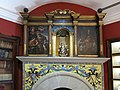 025 Monestir de Sant Benet de Bages, estances de Ramon Casas, llar de foc de la sala del piano.jpg