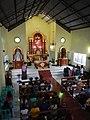 0279jfChurch San Isidro Holy Cross Halls Roads Caloocan Cityfvf 04.JPG