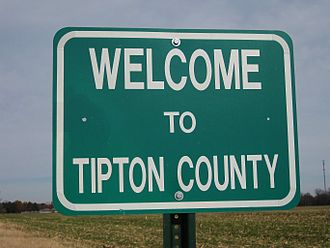 Tipton County, Tennessee - Welcome sign at the county border