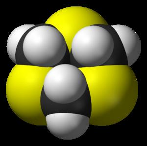 1,3,5-Trithiane - Image: 1,3,5 trithiane from xtal 3D vd W
