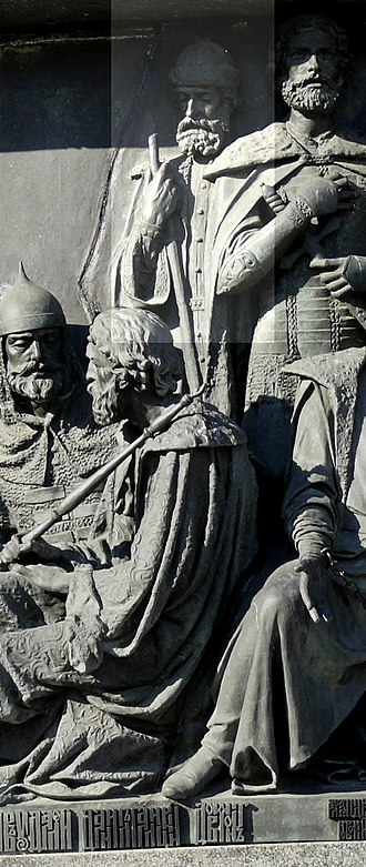 Daumantas of Pskov - Daumantas on the Millennium of Russia monument in Veliky Novgorod