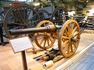 BL 10-pounder mountain gun - 10 Pounder Mountain Gun on display at the Royal Artillery Museum