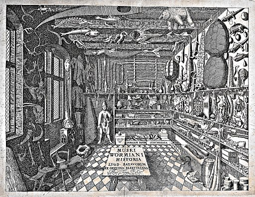 1655 - Frontispiece of Museum Wormiani Historia