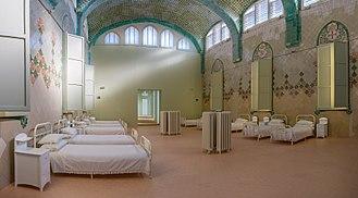 Hospital de Sant Pau - Interior of the hospital